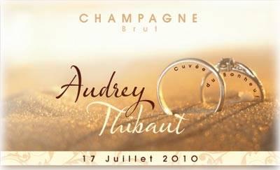 Etiquette personnalisée Champagne Gratuite