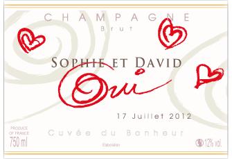 Etiquette personnalisée Champagne pas cher